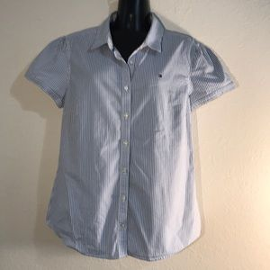 Tommy Hilfiger Large Classic Blue White Stripe Top